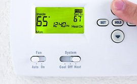 Furnace and air conditioning digital thermostat